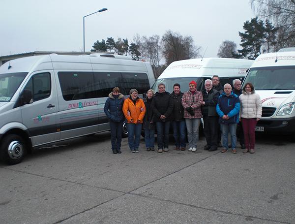 Mit viel Freude waren die Mitarbeiter der Firma Bobe & Lücking und Schnitger Bustouristik dabei, die gemeinsam an einem SHP mit Kleinbussen teilnahmen