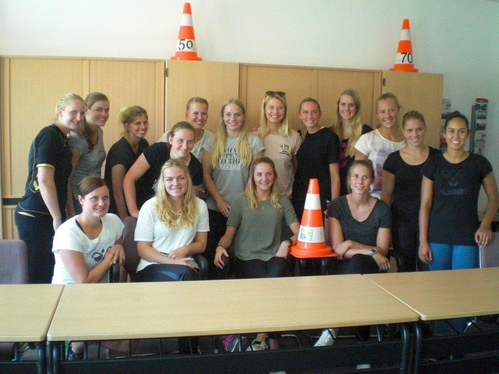 Die Handballmädels der HSG Blomberg